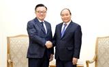 នាយករដ្ឋមន្ត្រី លោក Nguyen Xuan Phuc ទទួលជួបជាមួយអគ្គនាយកសម្ព័ន្ធក្រុមហ៊ុន Samsung(កូរ៉េខាងត្បូង)