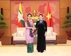 ប្រធានរដ្ឋសភាវៀតណាម លោកស្រី Nguyen Thi Kim Ngan អញ្ជើញទទួលជួបជាមួយទីប្រឹក្សារដ្ឋមីយ៉ាន់ម៉ា