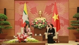 Глава Нацсобрания СРВ Нгуен Тхи Ким Нган приняла государственного советника Мьянмы