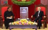 Генсек ЦК КПВ Нгуен Фу Чонг принял спикера парламента Шри-Ланки