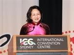 Bà Đặng Thị Ngọc Thịnh phát biểu tại Hội nghị phụ nữ toàn cầu
