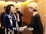 Вице-президент СРВ Данг Тхи Нгок Тхинь встретилась с главой МИД Австралии