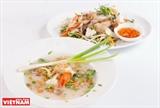 Sopa de pescado con verduras amargas