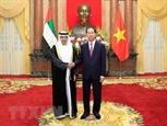 Chủ tịch nước tiếp các Đại sứ UAE Mozambique Hàn Quốc trình Quốc thư