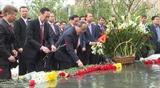 Церемония возложения цветов к памятнику Хо Ши Мину в Москве