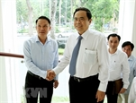 Глава ОФВ Чан Тхань Ман поздравил СМИ с Днем вьетнамской революционной прессы