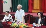 អគ្គលេខាបក្សលោក Nguyen Phu Trong អញ្ជើញជួបប្រាស្រ័យជាមួយអ្នកបោះឆ្នោតបន្ទាប់ពីសម័យប្រជុំរដ្ឋសភា
