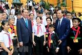 Президент СРВ Чан Дай Куанг встретился с детьми находящимися в сложных жизненных условиях