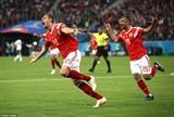 Hạ gục Ai Cập Nga nắm chắc vé vào vòng 1/8 World Cup 2018