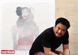 Đàn bà trong tranh lụa của họa sĩ Bùi Tiến Tuấn