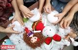 Simpáticos animales y muñecos de lana hechos a mano