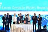 Công ty VinFast hợp tác với Siemens sản xuất xe buýt điện