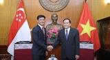 Вьетнам и Сингапур продолжают развивать отношения стратегического партнерства