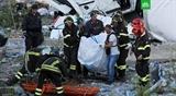 Телеграммы соболезнования в связи с обрушением автомобильного моста в Италии