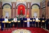 Chủ tịch nước gặp mặt cán bộ chiến sỹ tiêu biểu của lực lượng Cảnh sát biển