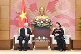 ប្រធានរដ្ឋសភាវៀតណាម លោកស្រី Nguyen Thi Kim Ngan អញ្ជើញទទួលជួបជាមួយប្រធានអយ្យការកំពូលហុងគ្រី Pesesteer POLT