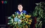 Нгуен Тхи Ким Нган приняла участие в церемонии начала нового учебного года в оборонной академии