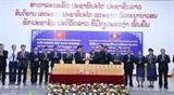 Церемония представления новых томов Сборника о Хо Ши Мине на лаосском языке