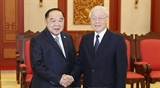 Генсек ЦК КПВ президент Вьетнама принял вице-премьера министра обороны Таиланда