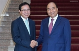 នាយករដ្ឋមន្រ្តី លោក Nguyen Xuan Phuc ទទួលជួបជាមួយអគ្គនាយកក្រុមហ៊ុន Samsung វៀតណាម