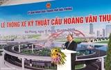 នាយករដ្ឋមន្រ្តីវៀតណាមលោក Nguyen Xuan Phuc អញ្ជើញចូលរួមពីធីសម្ពោធកាត់ខ្សែបូរដាក់ឲ្យប្រើប្រាស់ស្ពាន Hoang Van Thu