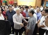 Генсен ЦК КПВ президент Вьетнама встретился с избирателями Ханоя