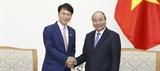Thủ tướng Nguyễn Xuân Phúc tiếp Thống đốc tỉnh Kagoshima (Nhật Bản)