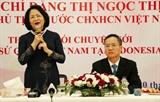 Вице-президент Вьетнама посетила Посольство Вьетнама в Индонезии