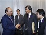 Le Premier ministre Nguyen Xuan Phuc arrive à Tokyo au Japon