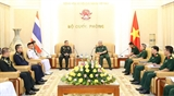 Thượng tướng Nguyễn Chí Vịnh tiếp Trưởng Phái đoàn Liên minh châu Âu và Tùy viên Quốc phòng Thái Lan