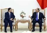 Thủ tướng Nguyễn Xuân Phúc tiếp tân Đại sứ Lào
