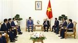 Thủ tướng Chính phủ Nguyễn Xuân Phúc tiếp Chủ tịch Tập đoàn Tài chính Hana Hàn Quốc 