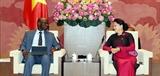 Chủ tịch Quốc hội Nguyễn Thị Kim Ngân tiếp Giám đốc quốc gia Ngân hàng Thế giới tại Việt Nam
