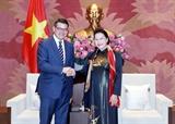 Chủ tịch Quốc hội Nguyễn Thị Kim Ngân tiếp Chủ tịch Nghị viện bang Hessen Đức
