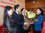 La présidente de lAN salue les contributions des enseignants au développement national