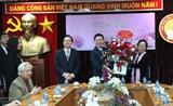 Товарищ Во Ван Тхыонг навестил бывших руководителей отрасли образования и поздравил их с Праздником