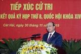 Le Premier ministre Nguyên Xuân Phuc rencontre lélectorat de Hai Phong