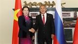 Chủ tịch Quốc hội Nguyễn Thị Kim Ngân hội kiến Tổng thống Cộng hòa Tatarstan thuộc Liên bang Nga