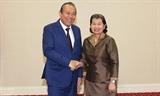 Постоянный Вице-премьер Вьетнама Чыонг Хоа Бинь посетил с рабочим визитом Камбоджу