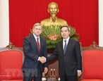 Заведующий экономическим отделом ЦК КПВ принял вице-президента американской компании Qualcomm