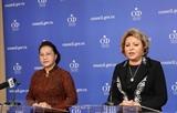 응웬티김응언 국회의장 러시아 공식방문