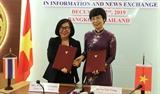 TTXVN và Cục Quan hệ Công chúng Thái Lan thúc đẩy hợp tác nhằm nâng cao hiệu quả thông tin đối ngoại