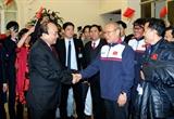 SEA Games 참가 베트남 선수대표단에게 응웬쑤언푹 총리의 응원 메시지