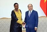 응웬쑤언푹 총리 케냐 외교부 장관 접견