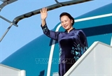 Председатель НС Вьетнама отбыла из Ханоя начав официальные визиты в Россию и Беларусь