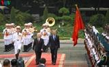 ជំនួបចរចាជាផ្លូវការរវាងអគ្គលេខាបក្ស ប្រធានរដ្ឋវៀតណាមលោក Nguyen Phu Trong និងប្រធានាធិបតីអាហ្សង់ទីនលោក Mauricio Macri