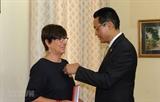 Lancienne ambassadrice belge au Vietnam à lhonneur