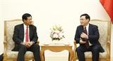Phó Thủ tướng Vương Đình Huệ tiếp đoàn Viện Nghiên cứu kinh tế quốc gia Lào