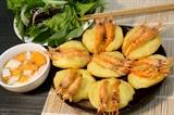 Shrimp cake a special dish in Hanoi