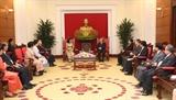 Thường trực Ban Bí thư Trần Quốc Vượng tiếp Phó Chủ tịch Quốc hội Campuchia